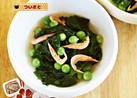 春・えんどう豆とわかめの酢の物