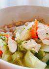 ササミとたっぷり野菜のスープご飯