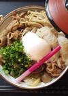 「天のつぶ」と福島牛の牛すき焼き丼