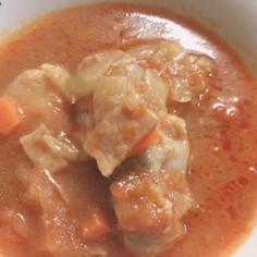 トマトスープの残りで!チキンのトマト煮!