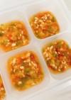 離乳食中期☆野菜と鶏むね肉のトマトソース