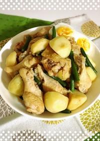 味付け簡単!鶏手羽元とじゃが芋の煮物