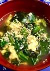 たまごとほうれん草のスープ