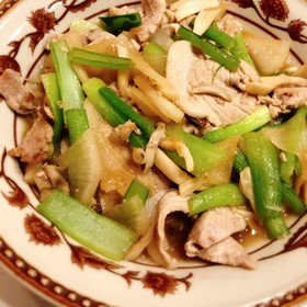 豚肉と野菜の和風炒め