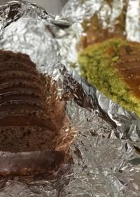チョコ&抹茶のパウンドケーキ