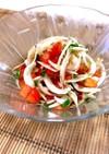 新玉ねぎとトマトのサラダ黒酢ドレッシング
