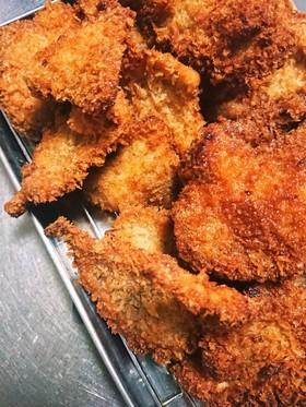 生姜焼き用の豚肉でひとくちトンカツ