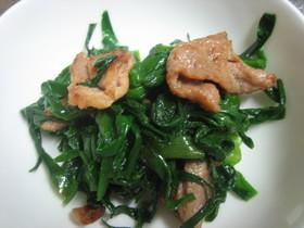 ニラと豚肉の和え物