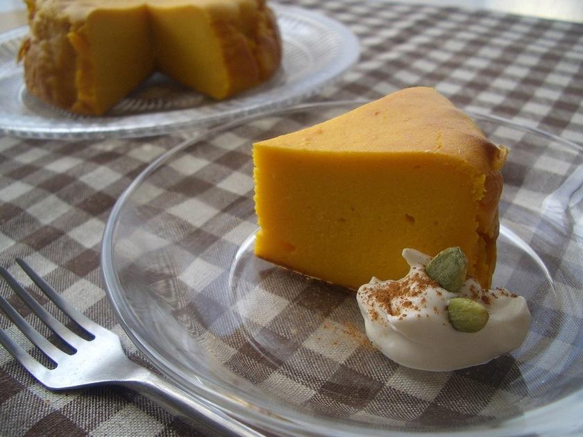 濃厚&しっとり♪南瓜のチーズケーキ