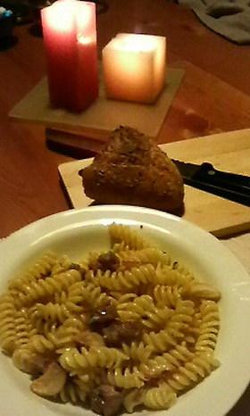 ゴルゴンゾーラと蜂蜜のフィジッリ