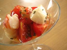 キラッ☆トマト&モツアレラ&エビカクテル