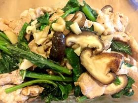 カイラン菜と豚肉のオイスターソース炒め