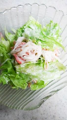 カニカマであっという間に簡単サラダ♪