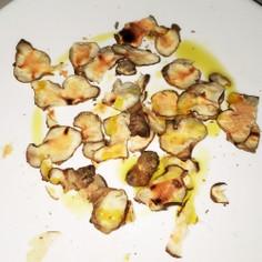 菊芋のレンチンチップス
