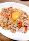 鶏ひき肉の甘辛丼