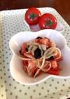 新玉ねぎとトマトのナムル。生姜入り。