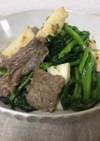牛肉と長芋と蕾菜のオイスターソース炒め