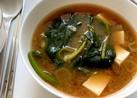 【韓国家庭料理】ほうれん草の味噌汁