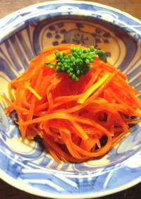 生姜と梅酢のキャロットラペ