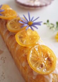レモンカードのスリムパウンドケーキ