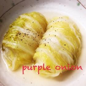 ズボラさんのベーコン&チーズでロール白菜