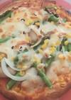 米粉入りピザ