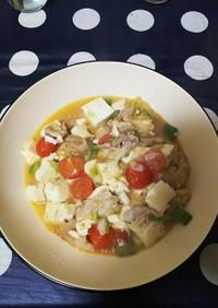 トマトと豚肉のマーボー豆腐
