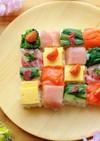 牛乳パックでモザイク寿司