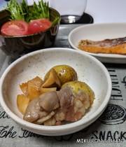 新じゃがと塩豚の煮物の写真