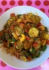♥ゼンパスタの野菜たっぷりナポリタン♥