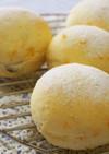白パンのみかんの皮甘煮とレーズンのパン♪