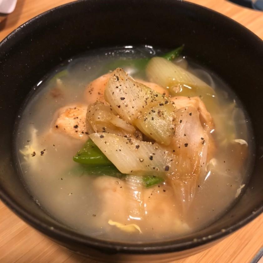 ねぎ塩鶏肉はるさめスープ【朝食に】