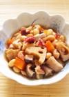 ☺水煮大豆で簡単和食♪たこ入り五目豆☺
