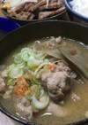豚コマと牛蒡の味噌汁