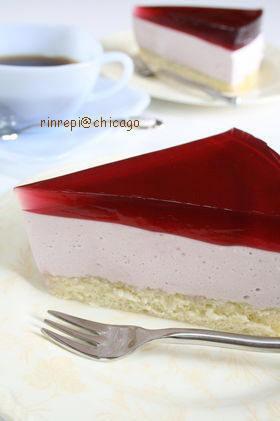 葡萄ムースケーキ