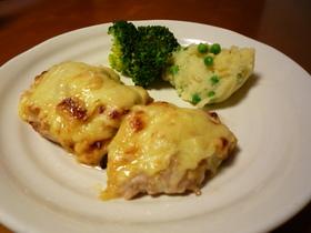 ◎超簡単♪鶏もも肉の味噌マヨチーズ焼き