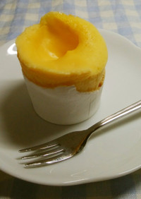 レンジ カスタードケーキ