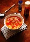 ふわふわふんわり卵とトマトの中華スープ