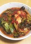 余り野菜と鶏肉のトマト煮