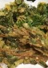 春が旬つくしとからし菜(菜の花)の天ぷら