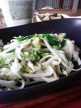 脇役野菜で★焼きうどん~塩味