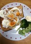 ゆで卵とオニオンの朝食パン