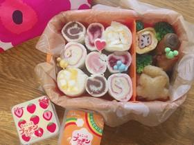 幼稚園年少弁当♡簡単クルクルサンドイッチ
