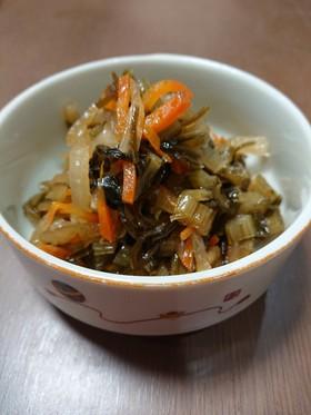 野沢菜漬けの煮物