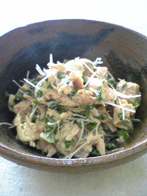 ツナとブロッコリースプラウトの簡単サラダ