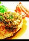 豆腐ハンバーグ・あめ色玉ねぎの和風ソース