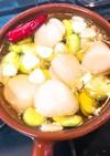 ホタテと空豆のアヒージョ