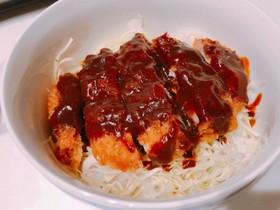 タレはレンジで簡単☆味噌カツ丼