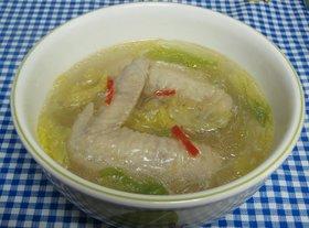 梵すけ亭の手羽先と白菜の春雨スープ☆
