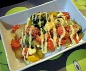 冷蔵庫の残り物で♪彩り野菜イタリアン丼